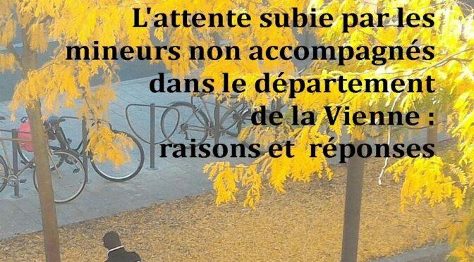 """""""L'attente subie par les Mineurs non accompagnés dans le departement de la VIENNE"""", publication projet REMIV"""